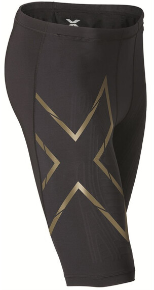 2XU M's Elite MCS Compression Shorts Black/Gold logo
